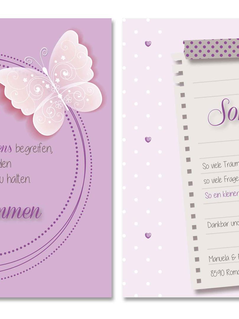 süsse Geburtskarte Sonja von fuer-di.ch