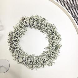 #yhdellävauvelillaonjuhlattänään #wreath #white #kastekranssi #harsokukka #christening #baptism #flo