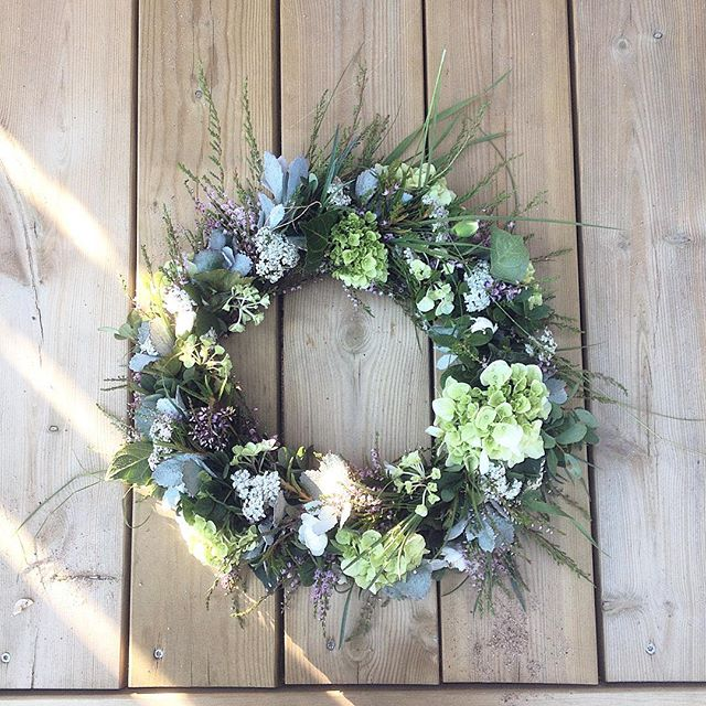 #wreath #kranssi #blue #flower #flowerstagram #minnaekdahl