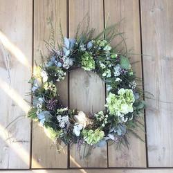 #wreath #kranssi #blue #flower #flowerstagram #minnaekdahl