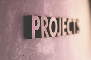 Projects lettering, lighting with colore