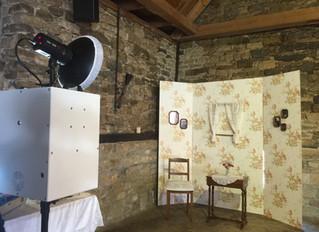 Set Up Vintage Studio auf einer Hochzeit