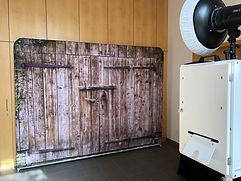 Fotobox Stuttgart Hintergrund Holz
