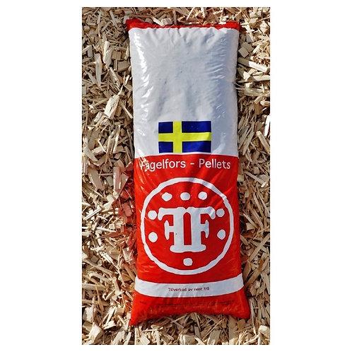 Svenske  FOGELFORS  Træpiller.  8 mm, 16kg/832kg