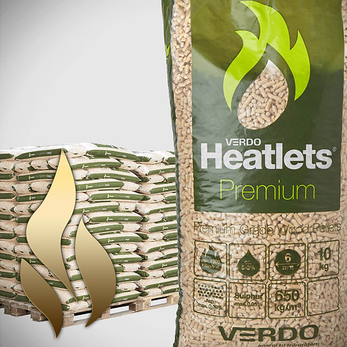 Heatlets Premium træpiller 6 mm 15kg-900kg