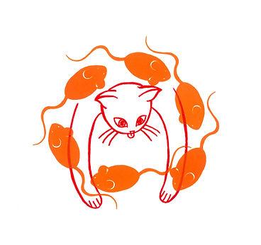 Cat image print