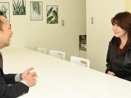 女優の矢部みほさんにインタビュー受けました。