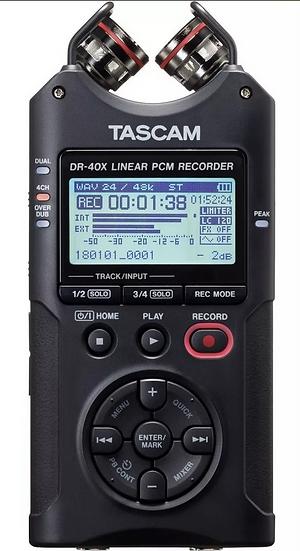 Gravador Voz Tascam Dr-40x Audio Digital Portátil