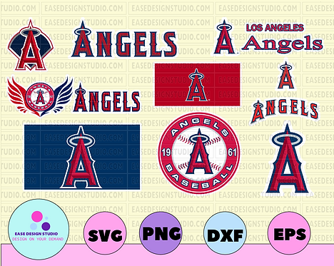 Los Angeles Angels SVG Files, Baseball Clipart, Cricut Los Angeles ,Cutting File