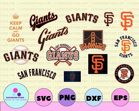 San Francisco Giants Cut Files, SVG Files, Baseball Clipart, Cricut Giants