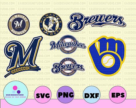 Milwaukee Brewers Cut Files, SVG Files, Baseball Clipart, Cricut Milwaukee