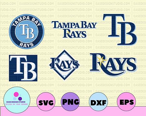 Tampa Bay Rays Cut Files, SVG Files, Baseball Clipart, Cricut Tampa Bay Rays Cut