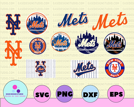New York Mets Cut Files, SVG Files, Baseball Clipart, Cricut NY Mets Cutting