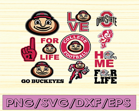 Ohio State Buckeyes sport svg, football svg, silhouette svg, NCAA