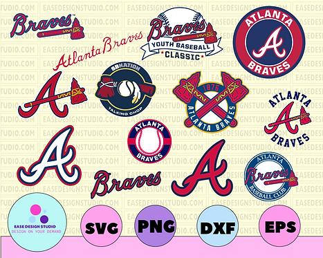 Atlanta Braves Cut Files, SVG Files, Baseball Clipart, Cricut contains