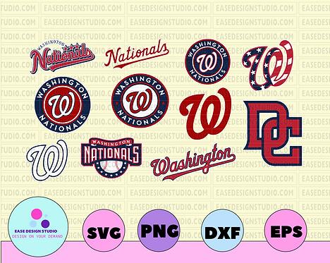 Washington Nationals Cut Files, SVG Files, Baseball Clipart, Cricut Nationals