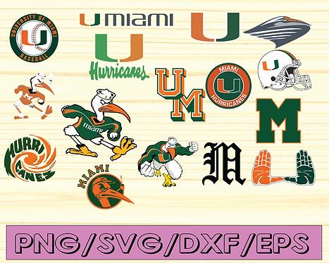 Miami Hurricanes, Miami Hurricanes logo, Miami Hurricanes svg, NCAA