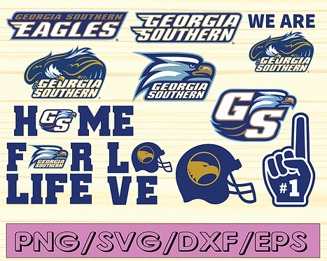 Georgia Southern Eagles Football SVG, football svg, silhouette svg, NCAA