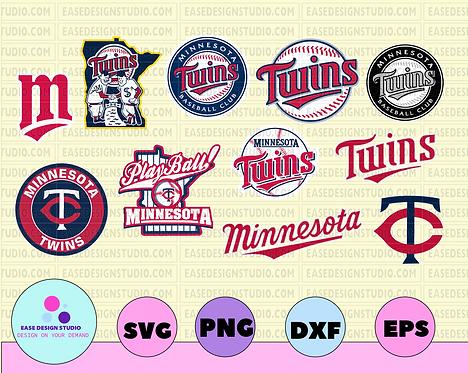 Minnesota Twins Cut Files, SVG Files, Baseball Clipart, Cricut Minnesota Twins