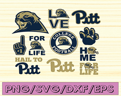 Pittsburgh Panthers Football svg, football svg, silhouette svg,NCAA