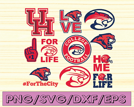 Houston Cougars Football svg, sport svg, football svg, silhouette svg,NCAA