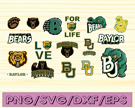 Baylor Bears, Baylor University NEW Custom Designs. SVG Files,NCAA