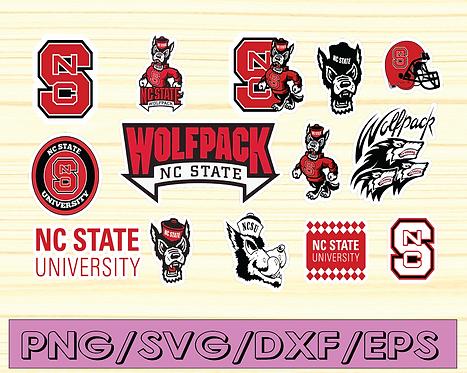 North Carolina State University Athletic logo, cricut, football svg, NCAA Sports