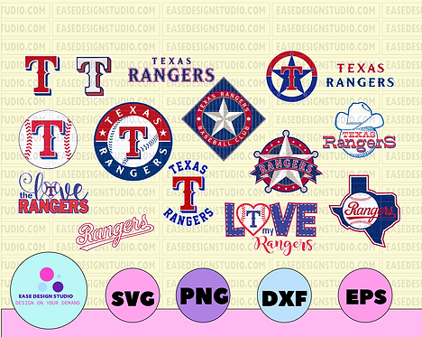 Texas Rangers Cut Files, SVG Files, Baseball Clipart, Cricut Texas Ranger
