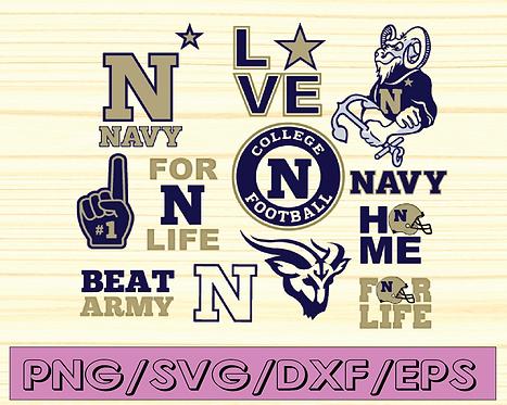 Navy Midshipmen Football svg, football svg, silhouette svg, cut files, NCAA
