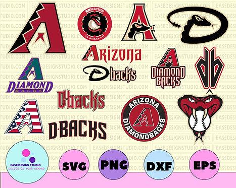 Arizona Diamondbacks Cut Files, SVG Files, Baseball Clipart, Cricut Diamondbacks