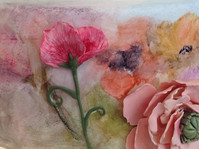 Bas relief and watercolor