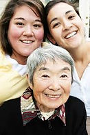 image Asian grandmother granddaughters.j