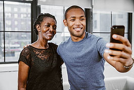old black woman with grandson selfie.jpg