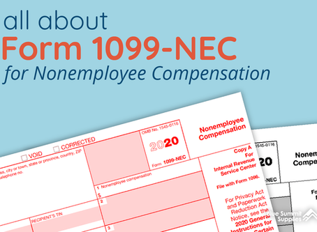 Form 1099-NEC is making a come back