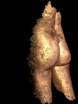 Bronze bottom sculpture art body casting manchester by Angelcasts