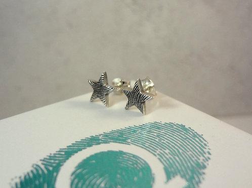 Star Fingerprint Earrings