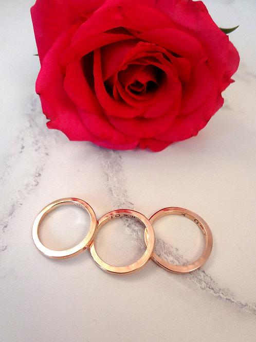 Rose Gold Plain Stacking Rings