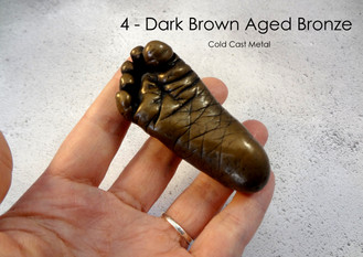 Dark Brown Aged Bronze by Angelcasts Body Casting