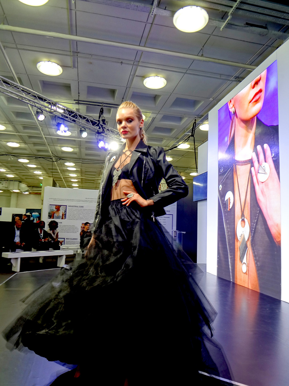 Fashion jewellery catwalk at International Jewellery London with Angelcasts and exploring New season jewellery trends from urban chic to the rennaisance