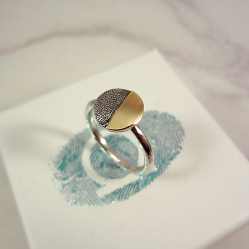 Gold Eclipse Paw Pad Texture Ring