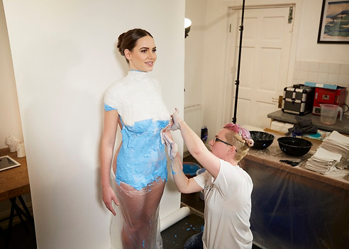 Body Casting Manchester for the Sun Newspaper