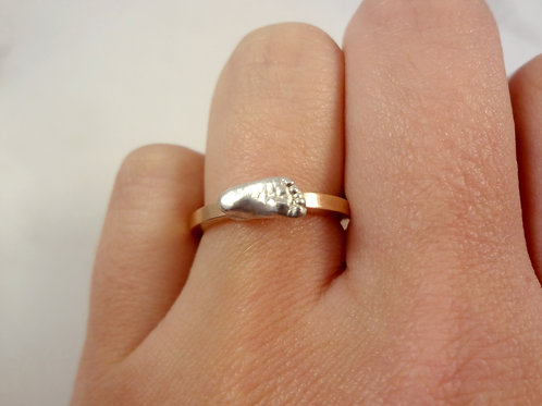Silver Miniature Baby Casting Ring in Gold or Silver