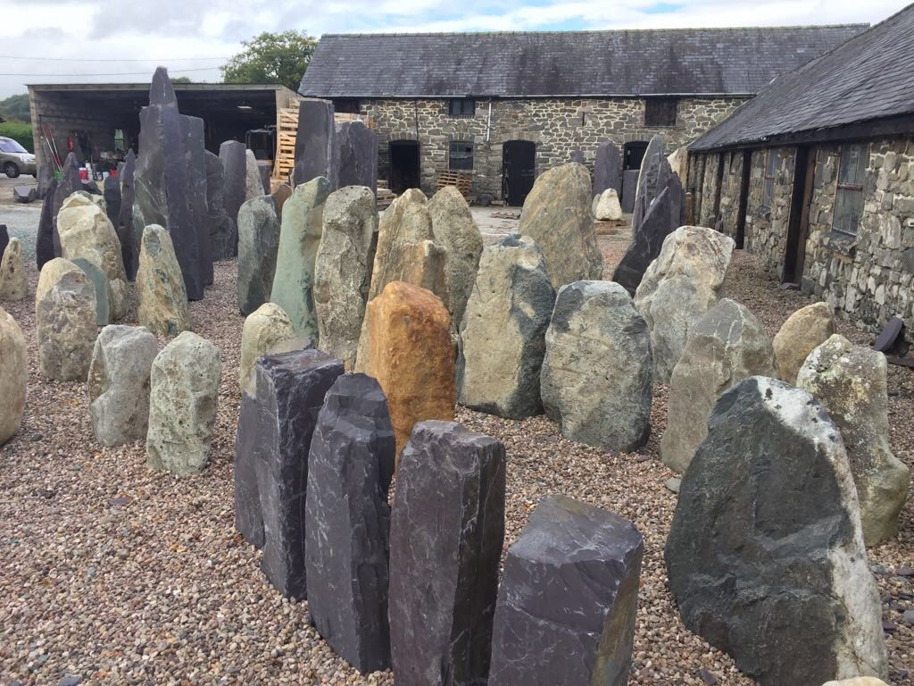 Sourcing Welsh Stone for outdoor sculptures to mount work of arts