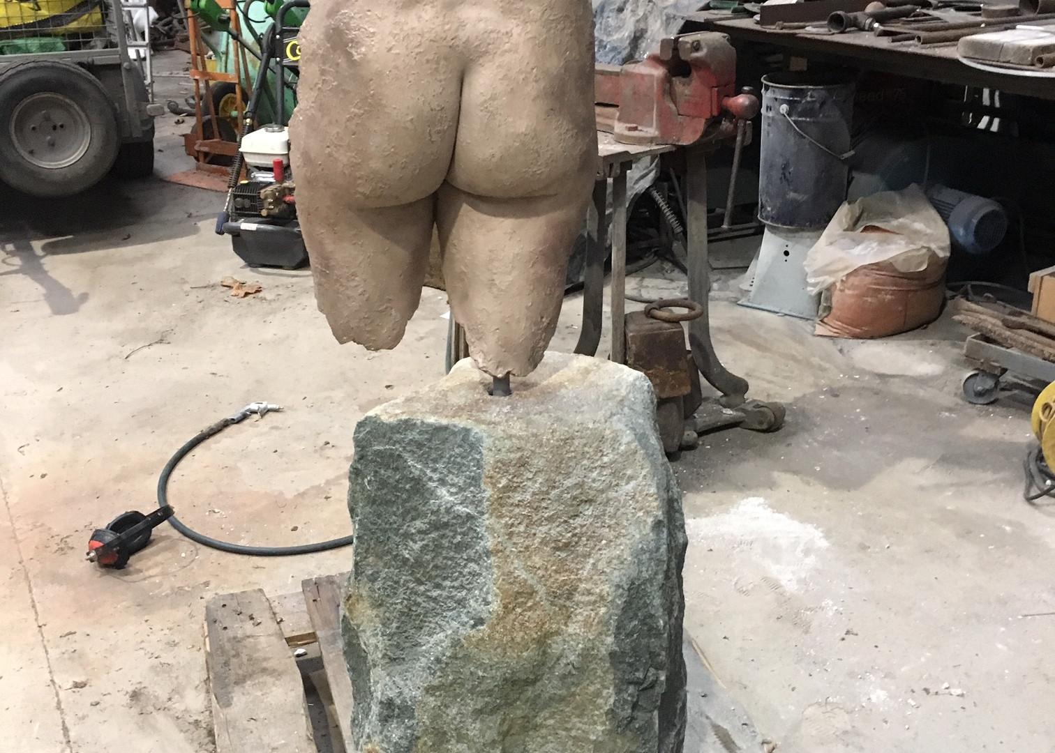 Sandblasted foundry bronze sculpture