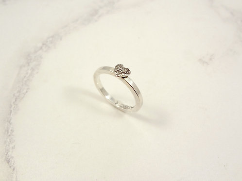 Pet Paw Print Ring Texture Heart or Nose Print in Sterling Silver