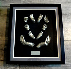 Bespoke Family Hand Casting Framed in Manchester by Angelcasts