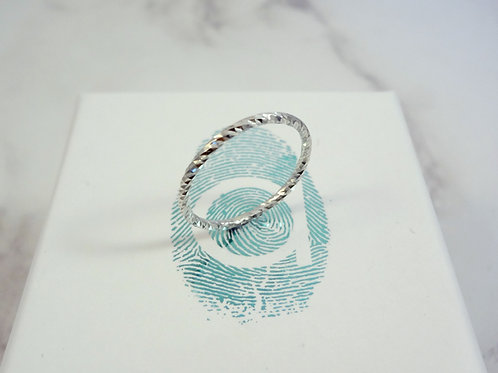 Sterling Silver Pixel Stacking Ring