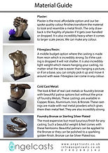 LifeCasting Material Guide by Angelcasts