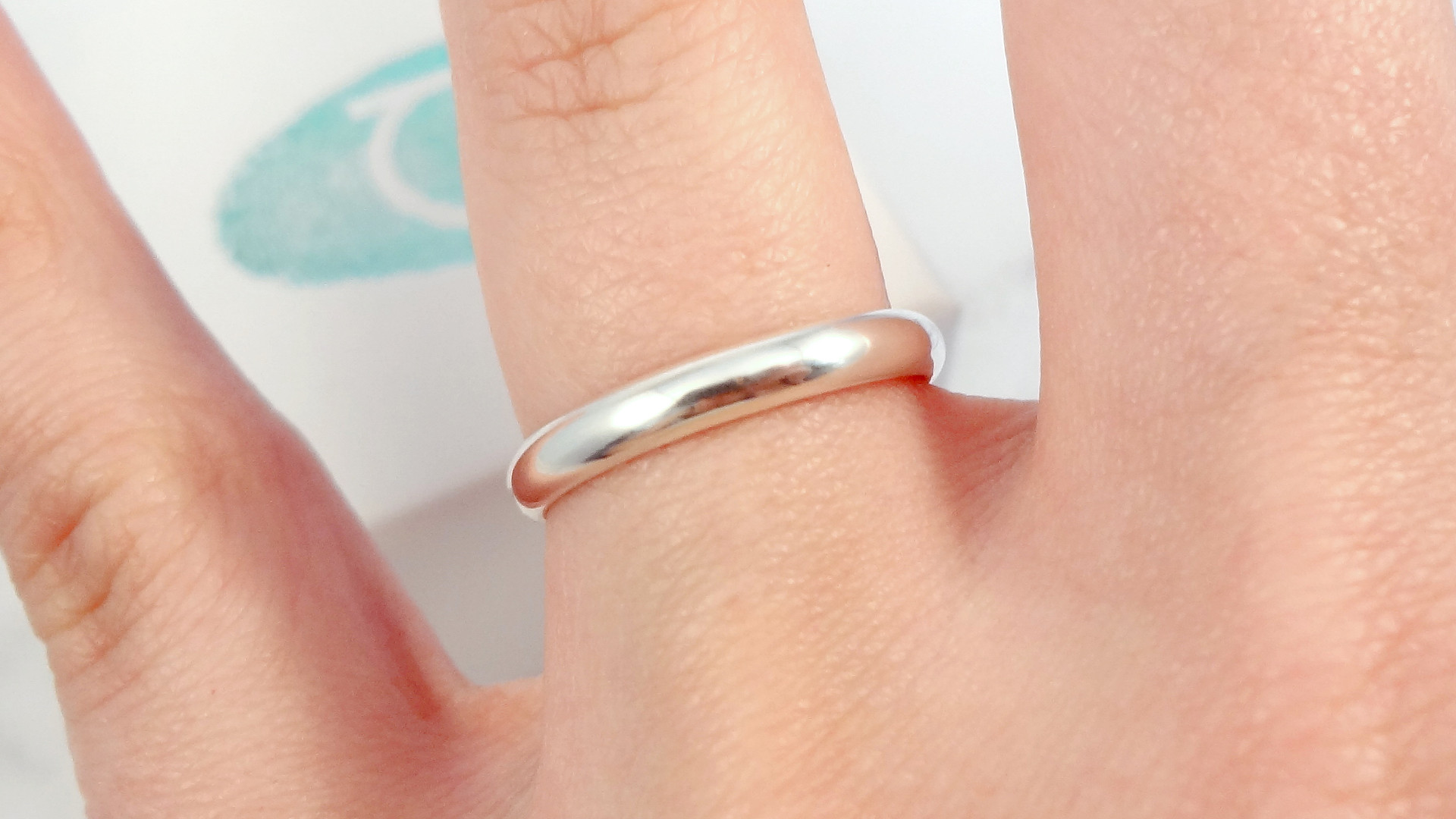 Handwriting ring with hidden message inside