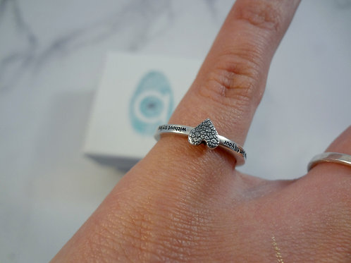 Nose Print Pet Ring with special Engraving on the outside